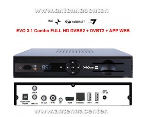 Digiquest EVO3.1 Ricevitore Digitale HD COMBO