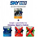 Sky Italia Prepaid Card HD SkyTV + Sport<br>Exp. 1. April 2018