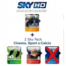 Carte pr�pay�e Sky Italia HD SkyTV + Sky Calcio + Cinema<br>Exp. 30. Septembre, 2019