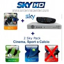 Sky Italia Prepaid Card HD SkyTV + Calcio + Sport + HD Decoder<br>Exp. 1. October 2017