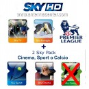 Sky Italia Subscription SkyTV + Famiglia + Cinema + Sport + Premiere League 12/13 Months